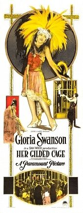 Theatrical poster for the 1922 silent film Her Gilded Cage.