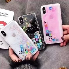 Floating Icon iPhone Case – Phone case for girls Girly Phone Cases, Glitter Phone Cases, Diy Phone Case, Iphone Phone Cases, Iphone 6, Kawaii Phone Case, Coque Smartphone, Coque Iphone, Iphone Icon