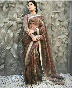 Samantha Prabu in Sabyasachi saree