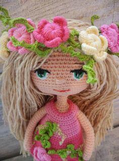 Artículos similares a Amigurumi Doll Interior Doll Art Doll Flower Fairy Doll Eco Friendly Doll Girl Nursery Decor Plush Fairy Doll Personalized Doll First Baby en Etsy Crochet Gifts, Crochet Dolls, Goddaughter Gifts, Organic Baby Toys, Unique Toys, Baby Development, Cute Toys, Amigurumi Doll, Handmade Toys