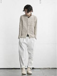 MEN CATEGORY :: 2016SS ALL :: individual sentiments コットンキャッチウォッシャーシャツ