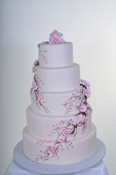 Tiered Cherry Blossom Cake Ideas And Designs