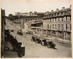 Bridge St Sydney 1866. After gunpowder explosion.   State Library, NSW
