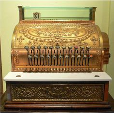 National Cash Register Brass USA 1906 Tiffany by shop12Hudson, $1950.00. Cool vintage piece for a retail store!
