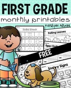 FREE First Grade Math and Literacy printable worksheets!