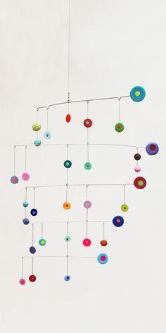 Colorful discs, mobile art -- Brindevero