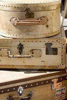 suitcases  {vintage}