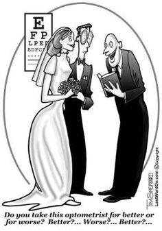 optometry humor | Photo: A little Hump Day humor: Optometrist Wedding