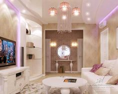Luxurious Apartment Design with Feminine and Romantic Style