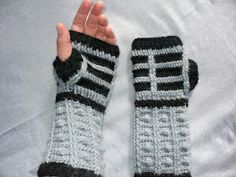 Look @Debbie Runyon crocheted Dalek fingerless mitts yarn-inspiration