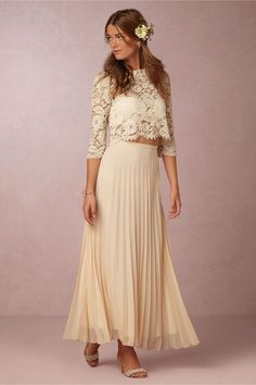 Serenity Lace Top and Maxi Skirt in Dresses Party Dresses at BHLDN