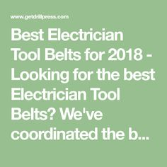 Best Electrician Tool Belts for 2018 - Looking for the best Electrician Tool Belts? We've coordinated the best selling Tool Belts products from Amazon so you can compare Tool Belts options side by side.