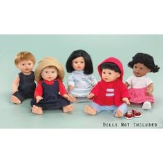 Childcraft Doll Clothes for 13 inch Dolls - Set of 14 - Fabrics and Colors May Vary - Dolls Not Included Price: $32.36