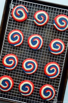 Make it a patriotic July 4th party with festive homemade Pinwheel Icebox Cookies.