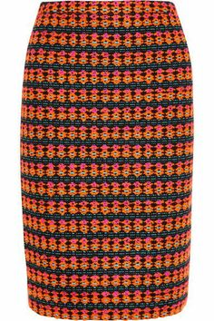 Collection Neon Tweed Pencil Skirt from J.Crew | StyleSpotter
