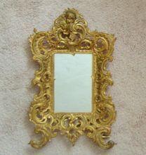Exquisite Antique Brass Rococo Style Cherub Putti Angel Mirror or Picture Photo Frame