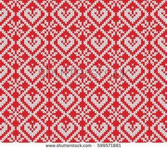 Festive Sweater Design. Seamless Knitted Pattern