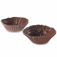 chocolate baking cup shells