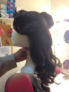 Beautiful lace front Belle wig. #beautyandthebeast #wigs #princesswigs #princessdressup #princessparty