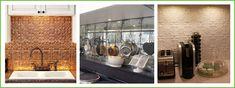 Textured and alternative tile kitchen splashback ideas Mirror Splashback, Splashback Ideas, Distressed Mirror, Kitchen Tiles, Humble Abode, Alternative, Big, Home Decor, Decoration Home