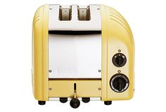 Two-Slice Toaster, Canary Yellow on OneKingsLane.com - reminds me of our old toaster from London!