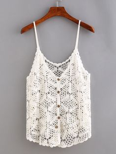 Buttoned+Front+Hollow+Out+Crochet+Cami+Top+11.99