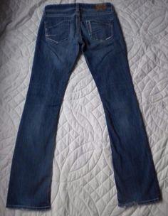 30.06$  Buy here - http://viitg.justgood.pw/vig/item.php?t=bg703s13865 - BKE Stella Slim Boot Cut Ultra Low Rise Medium Denim Stretch Jeans 26 x 33 30.06$