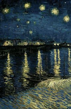 Starry Night Over the Rhone, 1888 Vincent Van Gogh Van Gogh Wallpaper, Painting Wallpaper, Van Gogh Arte, Vincent Willem Van Gogh, Van Gogh Paintings, Renaissance Art, Aesthetic Art, Art And Architecture, Aesthetic Wallpapers