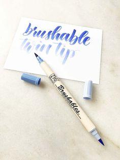 Stationery Akashiya Fude Brush Pen Sai Thin Line MA
