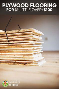 cheap-plywood-flooring-idea-for-100-dollars