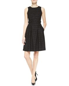 Sleeveless Full-Skirt Dress by Armani Collezioni at Neiman Marcus.