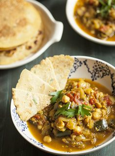 Eggplant, Tomato, and Chickpea Curry with Chickpea Rice Flatbread | Choosing Raw – vegan and raw recipes