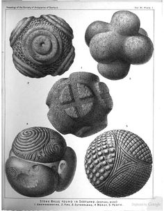 """""""Notes of Small Ornamented Stone Balls"""" starts on page 29, from """"Proceedings of the Society of Antiquaries of Scotland"""", December 14, 1874. From Google Books."""