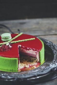 Рецепт - Торт Фисташка-малина
