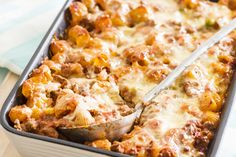 Need a great make-ahead dinner recipe? Our Make-Ahead Bolognese Pasta Bake is a wonderful choice. Not only is it easy to prepare, but it can be frozen until ready to serve. Baked Pasta Dishes, Baked Pasta Recipes, Beef Recipes, Cooking Recipes, What's Cooking, Rice Dishes, Yummy Recipes, Main Dishes, Recipies