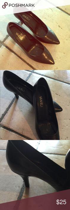 Gently used black heels Black nice heels! Vaneli Shoes Heels