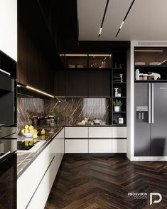 Awesome modern kitchen room are offered on our internet site. Take a look and you wont be sorry you did. Kitchen Room Design, Kitchen Cabinets Decor, Luxury Kitchen Design, Kitchen Cabinet Design, Living Room Kitchen, Home Decor Kitchen, Interior Design Kitchen, Home Kitchens, Kitchen Ideas