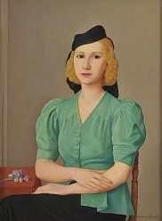 Antonio Donghi, Ritratto di donna, 1944