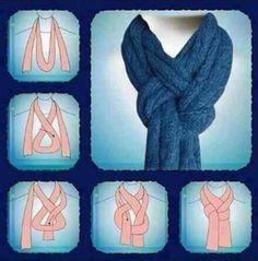 nudo original para portar la bufanda