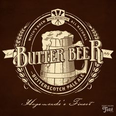 Harry Potter Butterbeer Label by dontblinktees.deviantart.com on @deviantART