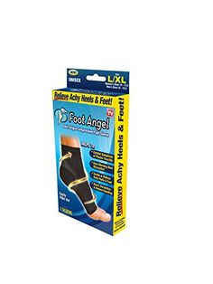 Foot Angel Anti-Fatigue Compression Foot Sleeve for Plantar Fasciitis Relief, Large/X-Large, Black, L-XL Outdoor Gifts, Online Casino Games, Plantar Fasciitis, See On Tv, Health Fitness, Angel, Braces, Image Link, Walmart