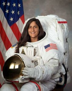 Longest Single SpaceflightCredit: NASA/JSC.The woman who has made the longest single spaceflight is NASA astronaut Sunita Williams, who lived and worked in orbit for 195 days while serving on the International Space Station's Expedition 15 mission in 2007.  via space.com