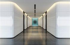 深圳万科壹海城办公楼室内设计公司 Elevator Lobby, Architecture Building Design, Education Office, Office Lobby, Art Installation, Design Trends, Toyota, Times Square, Stairs