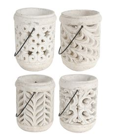 Look at this Ceramic Nate Lanterns - Set of Four on #zulily today!