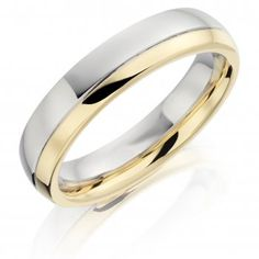 Mens Wedding Rings love the two tone to match my gold one