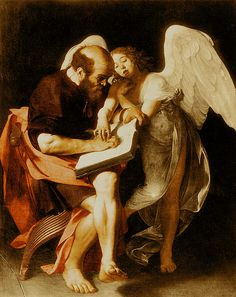 Caravaggio -St. Matthew and the Angel 1602
