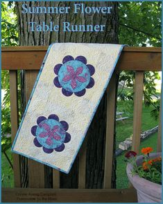 Summer Flower Table Runner Tutorial | Freemotion by the River