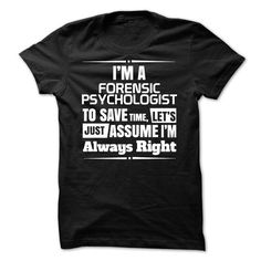 Forensic Psychologist - #gift ideas #cheap gift. LIMITED TIME PRICE => https://www.sunfrog.com/LifeStyle/Forensic-Psychologist-44098153-Guys.html?68278