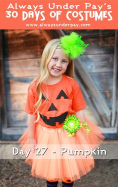 Day 27 – Pumpkin DIY Halloween Costume Tutorial | Always Under Pay's 30 Days of Costumes