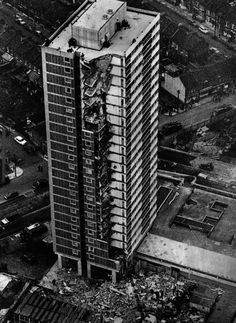 Ronan Point Tower, London, UK, May 16, 1968